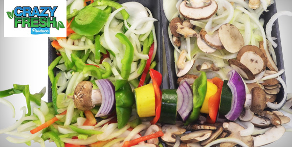 crazy fresh veggie tray